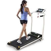 LONTEK Sports Laufband Elektromotor mit Trainingscomputer Zusammenklappbar 10km/h 12 Individuelles Trainingsprogramm