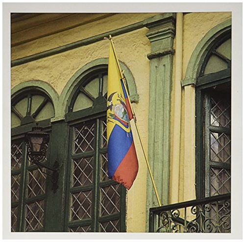 3dRose Balcony with Ecuadorian flag, Cuenca, Ecuador - SA07 JME0372 - John and Lisa Merrill - Greeting Cards, 6 x 6 inches, set of 6 (gc_86161_1)