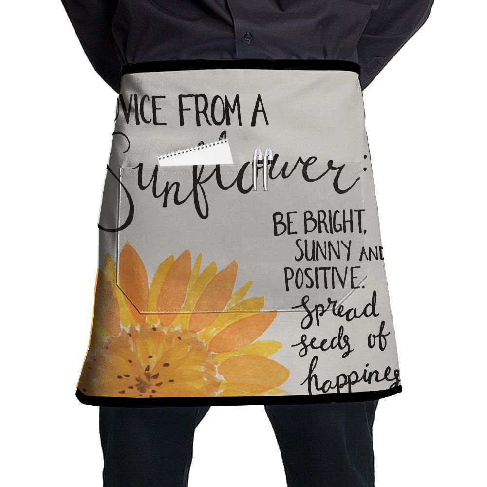 Advice From A Sunflower Men Women Adjustable Kitchen Apron Adjustable Kitchen Chef Bib With Pocket Perfect For Cooking Baking Kitchen Restaurant Crafting Gifts For Mom