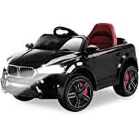 Rovo Kids BMW X5 Inspired 12v Ride On Car with Charger and Remote Control, Black