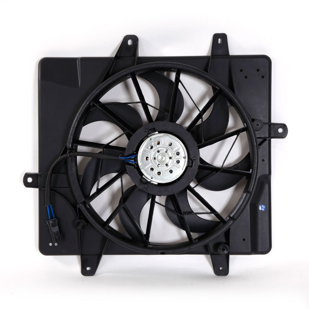 Motorhot For 01-05 Chrysler PT Cruiser Radiator Cooling Fan Assembly Replacement 2.4L 2429CC