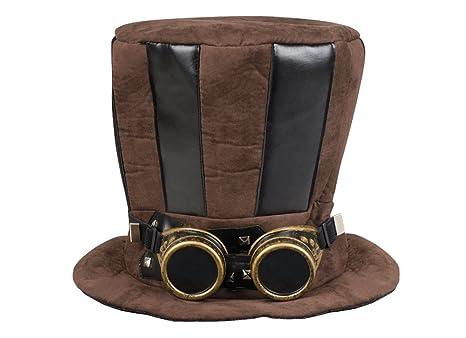Boland Cappello Cilindro Tuba Steampunk con Occhiali per Adulti ... 2c0997038b57