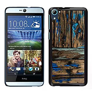 HTC Desire 826 dual Único Patrón Plástico Duro Fundas Cover Cubre Hard Case Cover - Rustic Wood Pattern Worn Out Paint