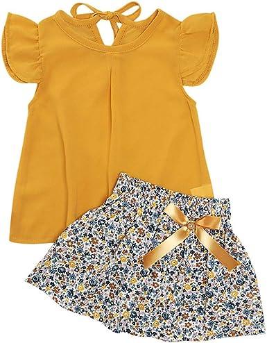 Sameno Fashion Toddler Infant Baby Girl Sleeveless Striped Straps Lace Sundress Clothe Dress