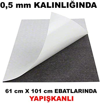 """Magnetic sheets 15 mil x 24/"""" x 25/' Adhesive backing"""