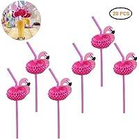 Jourbon Flamingo Straws Pajitas De Plástico Desechables, De