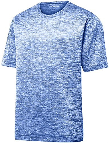 Youth Dri-Equip Electric Heather Moisture Wicking T-Shirt-Royal-S