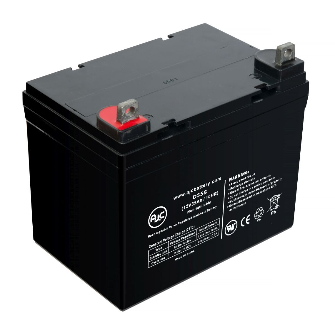 Everest & Jennings Mobie-Stand Aid 12V 35Ah Wheelchair Battery - This is an AJC Brand Replacement