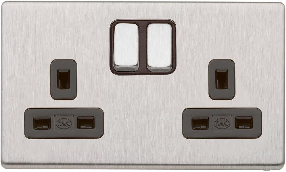 2 Gang Mk Logic Plus K2747 B 13 A Double Pôle switchsocket