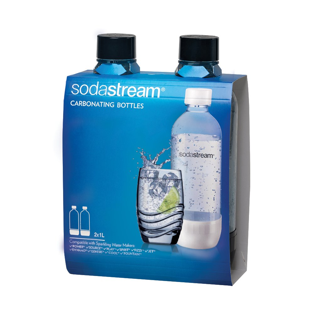 Sodastream 1l Carbonating Bottles- Black (Twin Pack) by SodaStream (Image #1)