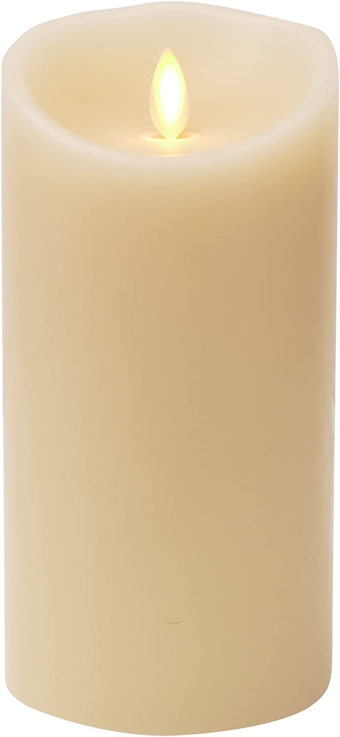 """Shop Luminara Flameless Candle: Vanilla Scented Moving Flame Candle with Timer (7"""" Ivory): Home & Kitchen from Amazon on Openhaus"""