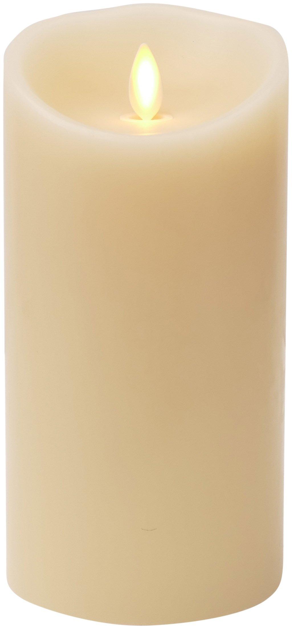 Luminara Flameless Candle - Vanilla Scented Ivory Wax Pillar - 7 in