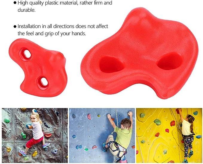 Dilwe Kit de Piedras de Escalada Cómodas de 10 Piezas de Seguridad con Accesorios de Herraje para Juegos Infantiles
