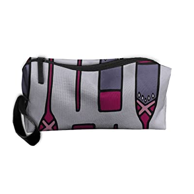 SDTTYHNM Travel Bag Cosmetic Bags Brush Pouch Paddles Portable Makeup Bag Zipper Wallet Hangbag Pen Organizer Carry Case Wristlet Holder