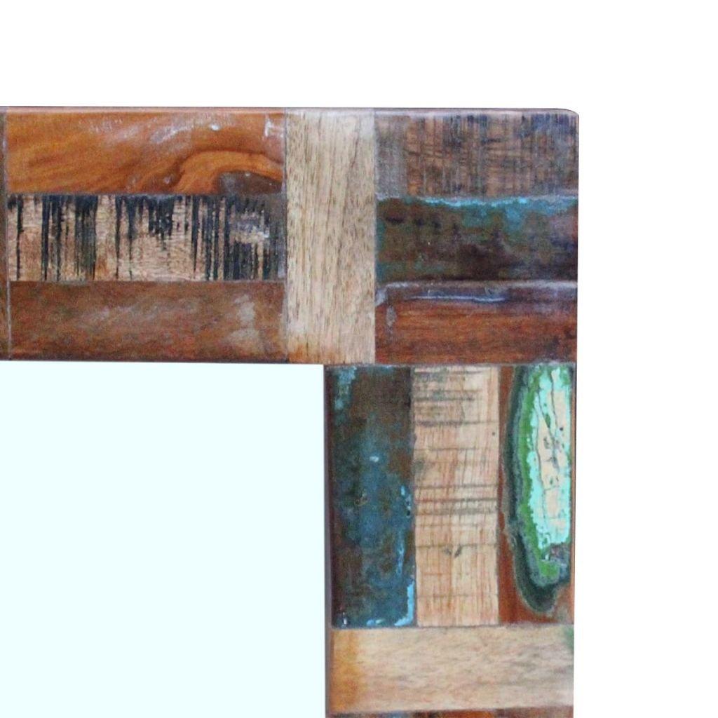 vidaXL Miroir en Bois de r/écup/ération Massif 80x50cm Miroir de Salle de Bains Coiffeuse