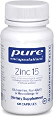 Pure Encapsulations - Zinc 15 - Zinc Picolinate (15 mg.) Highly Absorbable Hypoallergenic Supplement for Immune Support* - 60 Capsules