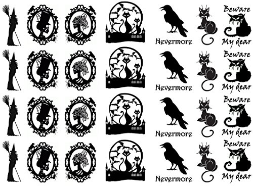 Halloween Fright Black 16CC717 Fused Glass Decals -