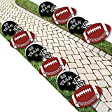 Homecoming - Helmet and Football Lawn Decorations - Outdoor Football Themed Yard Decorations - 10 Piece