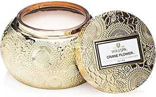 product image for Voluspa Crane Flower Embossed Glass Chawan Bowl Candle, 14 Ounces