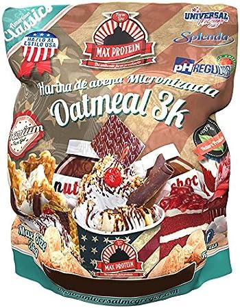 Max Protein Oatmeal Harina Avena Termo-Activada - 3000 gr: Amazon.es: Salud y cuidado personal