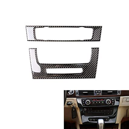 Thor-Ind Carbon Fiber AC Air Conditioning CD Control Console Panel Trim Cover Frame for BMW Old 3 Series E90 E92 E93 2005-2012 Car Interior ...