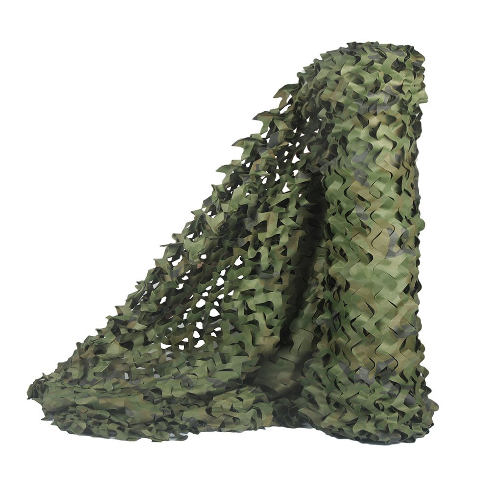 LOOGU Camouflage Net for Photography Background Decoration Hunting Blinds (Woodland, 1.5x8M=5x26.2ft) by LOOGU
