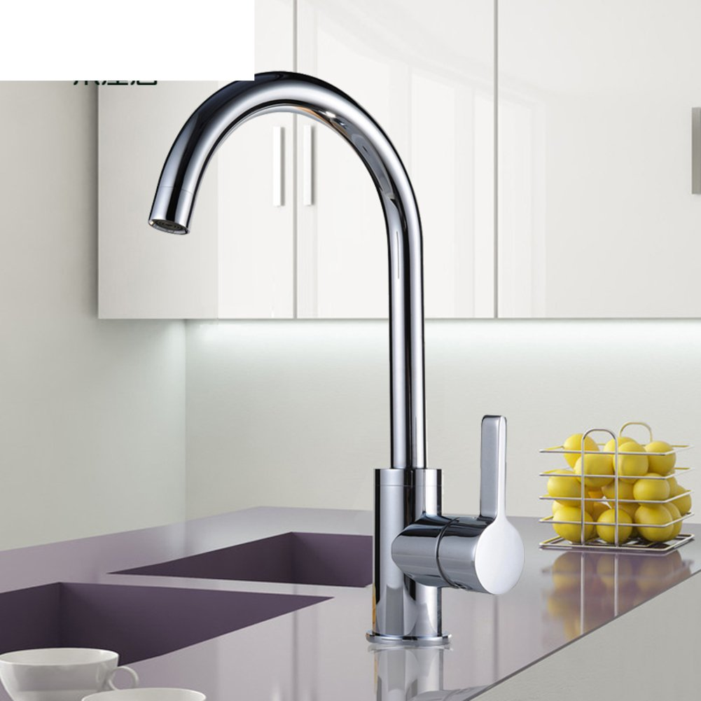 Vegetables Basin Kitchen Faucet Single Hole Sink Faucet hot and Cold redary Swivel