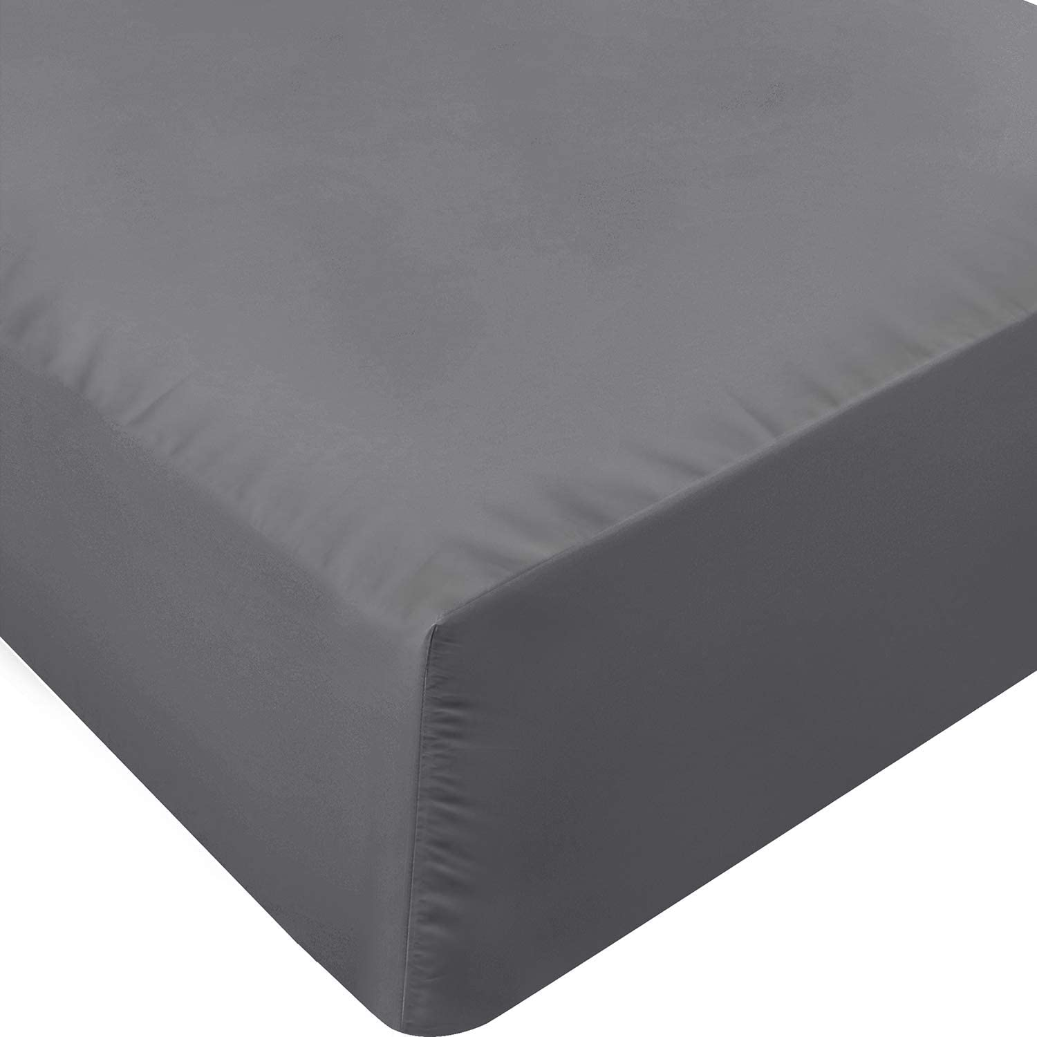 Utopia Bedding Twin Fitted Sheet (Grey)