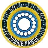 Hawgs Wheels Zombie Yellow Skateboard Wheels - 76mm 82a (Set of 4)