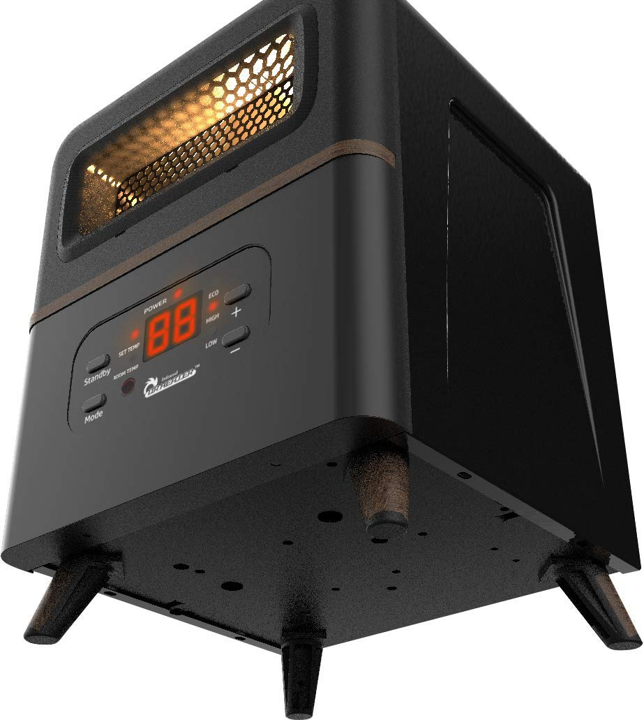 Dr Infrared Heater DR-978 Dual Heating Hybrid  Space Heater, 1500W with remote , more Heat by Dr Infrared Heater