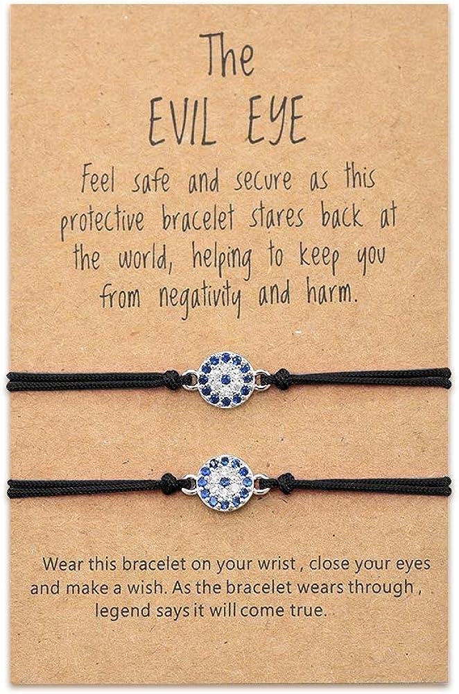 Sincere Evil Eye Bracelets Red String Protection Bracelet Ojo Turco Kabbalah Lucky Friendship Bracelet for Women Men Kids Family Friends