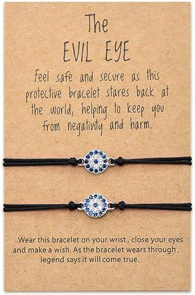 bracelet Evil eye Red bracelet Red string bracelet Lucky bracelets Set of two bracelets