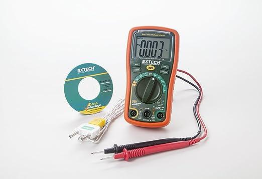 Extech EX330 Mini multímetro con autorango con termómetro integrado con sonda remota tipo K: Amazon.es: Industria, empresas y ciencia