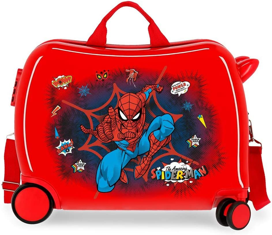 Maleta Infantil Spiderman Pop Rojo, 50x38x20 cm