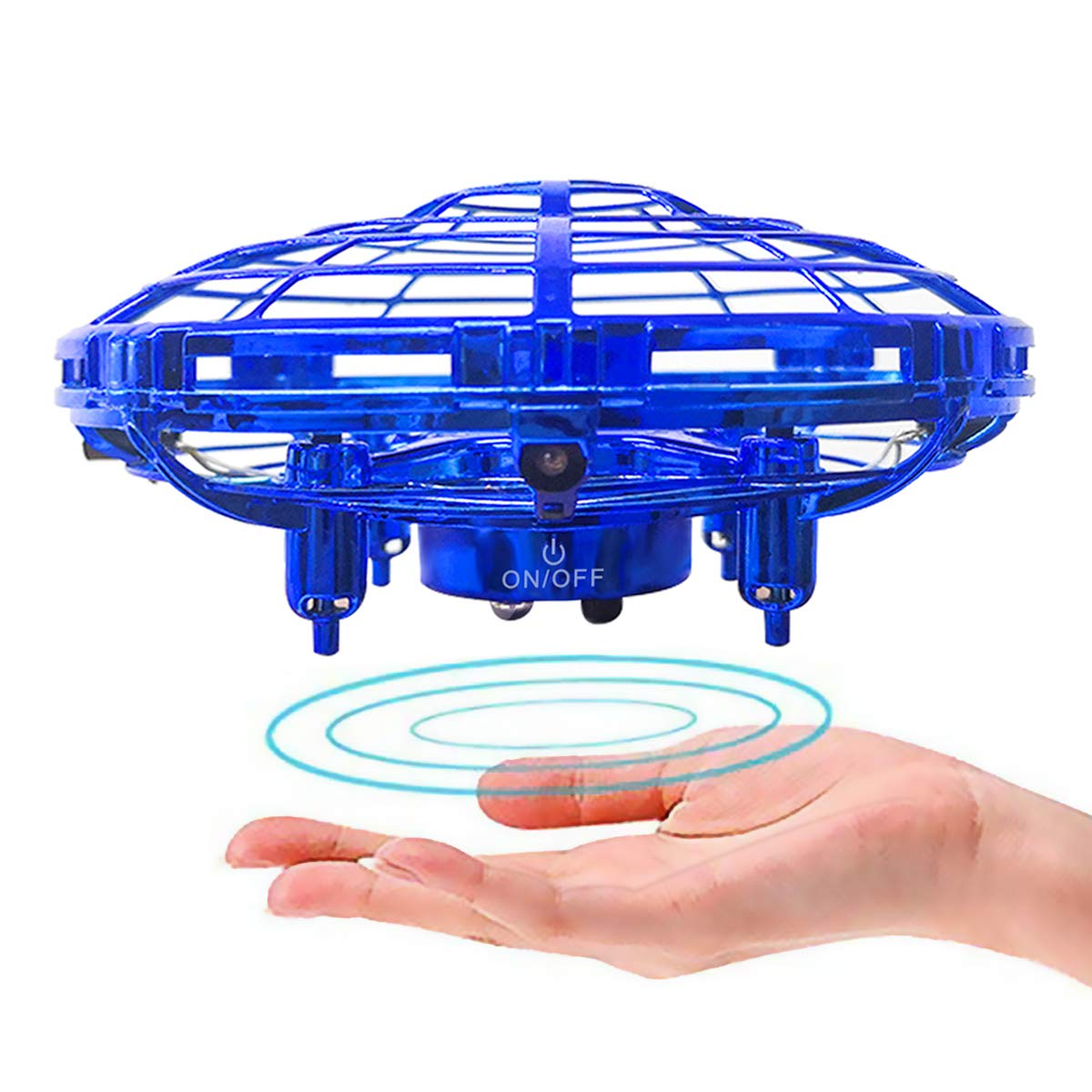 EKOHOME Hand Operated Drones for Kids or Adults- UFO Flying Toy Hand Free Mini Flying Ball Drones Toys Indoor Infrared Induction for Boys and Girls (Blue) by EKOHOME