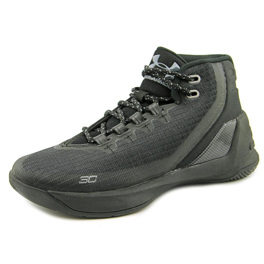 Under Armour Kids Curry 3 Basketball Shoes (7Y, Black/Black/Black)   by Under Armour (Image #1)