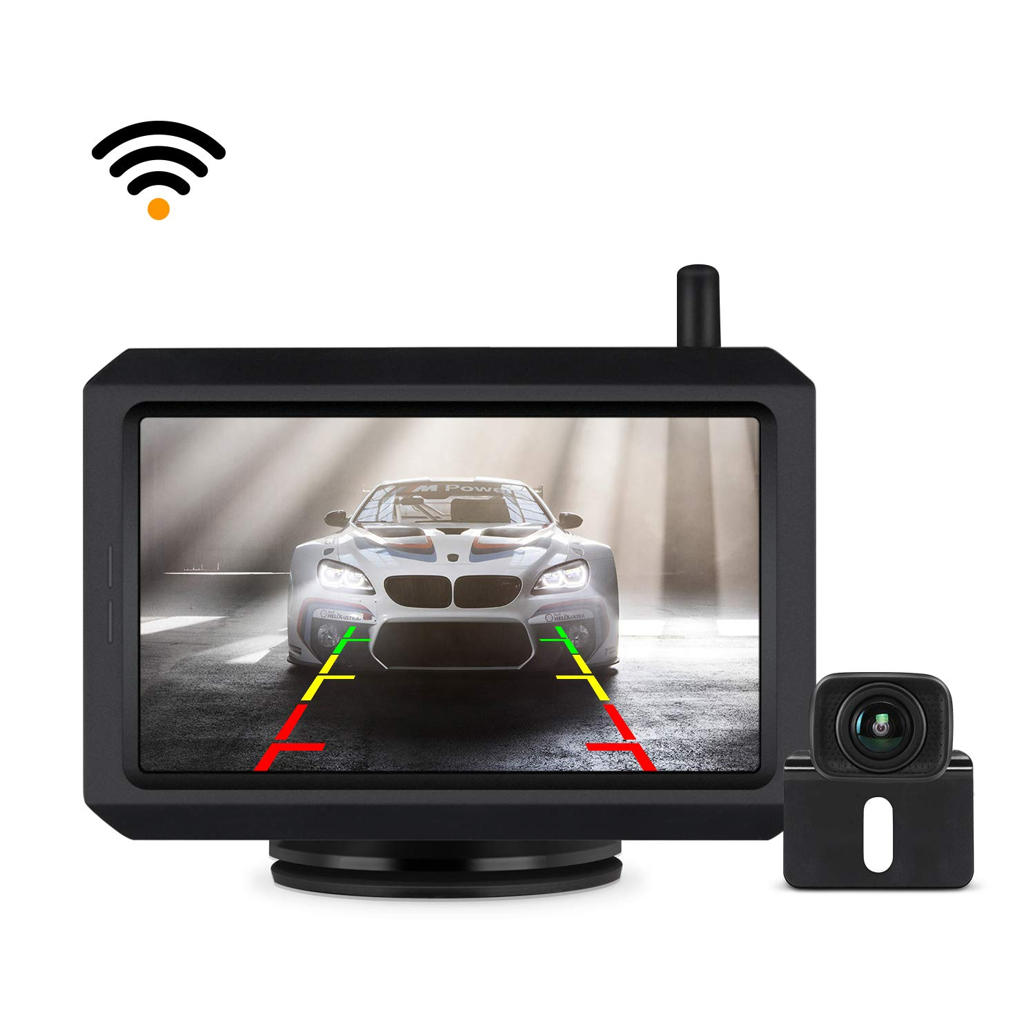 Wireless Backup Camera Kit with Digital Signal, Waterproof Rear-View Camera with 5″ TFT-LCD Monitor, Ideal for Sedans, Pickup Truck, SUV, Minivans (BOSCAM K7) by BOSCAM