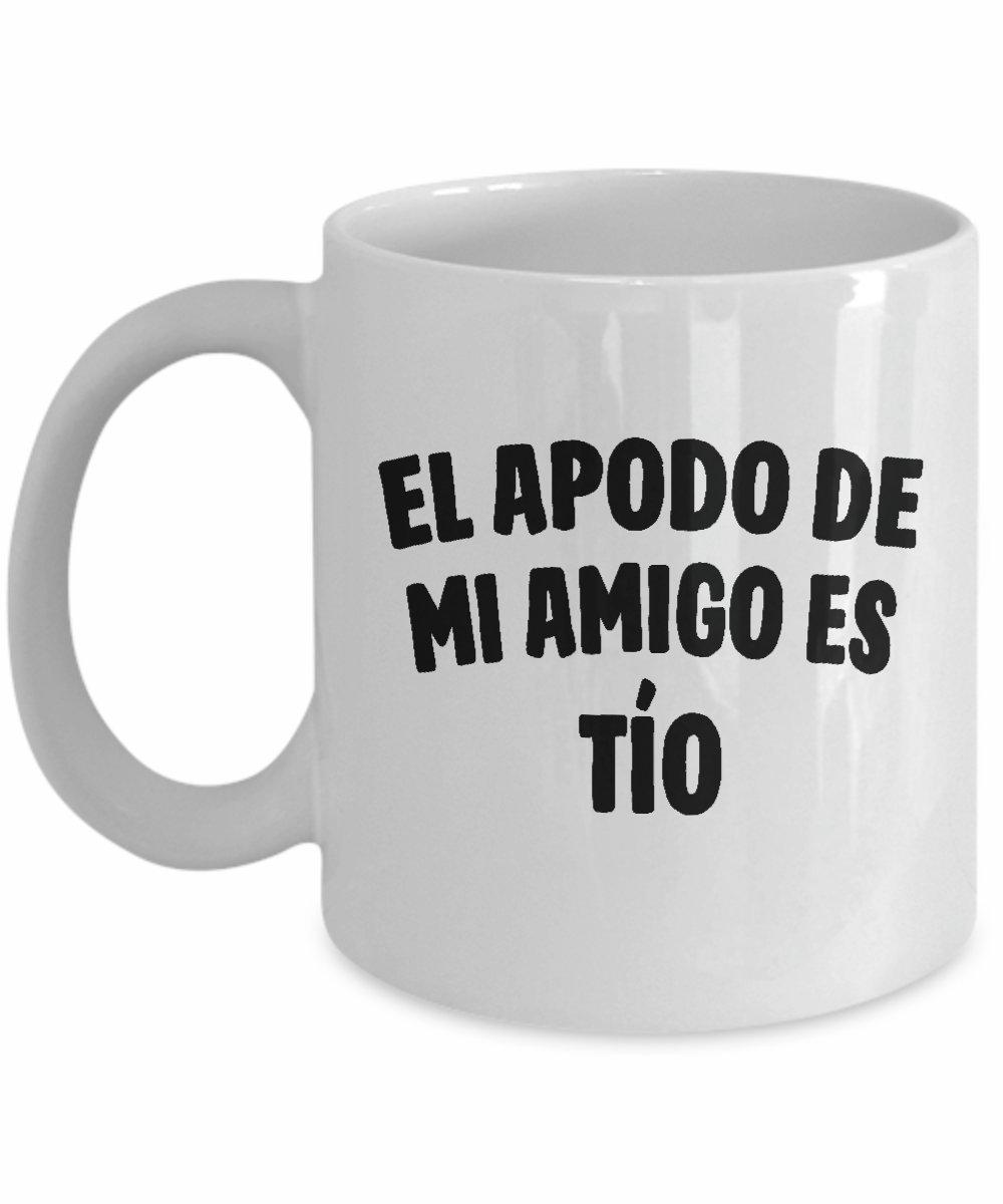 Amazon.com | Tío Taza de Café - El Apodo De Mi Amigo Es Tío ...