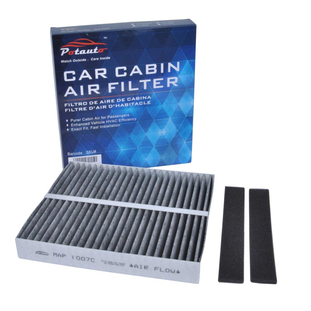 POTAUTO MAP 1007C (CF10140) Activated Carbon Car Cabin Air Filter Compatible for Aftermarket Replacement Part