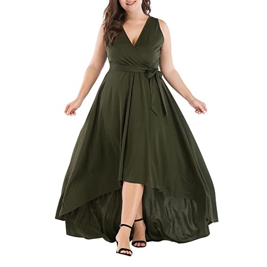 heresell Vestido de Mujer Vestido de Fiesta Largo sin Mangas ...