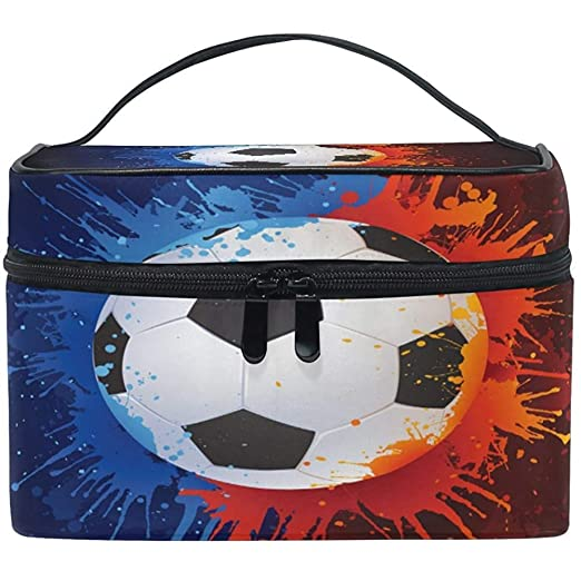 Balón de fútbol Mujer Bolsa de cosméticos de viaje Estuche de ...