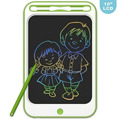 LCD Writing Drawing Tablet JONZOO 10 inch Colorful Electronic Doodle Board with Screen Lock Digital Sketch Pad Erasable Reusable eWriter Paperless Tool for Kids Adults at Home/School/Office: Computers & Accessories