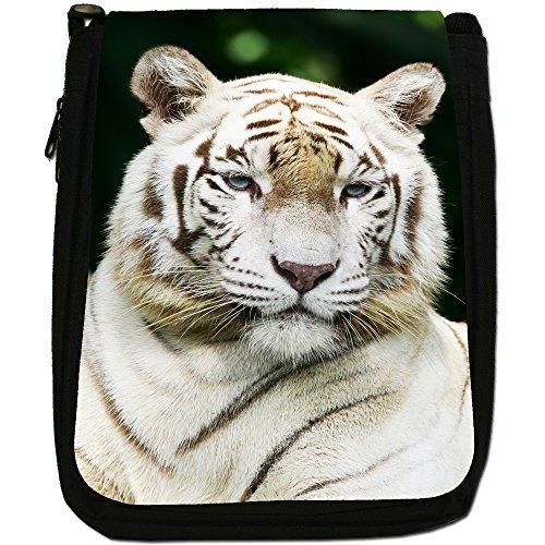 Tigers Canvas Bag Size Medium Shoulder Tiger White Portrait Black ApnqWSSB