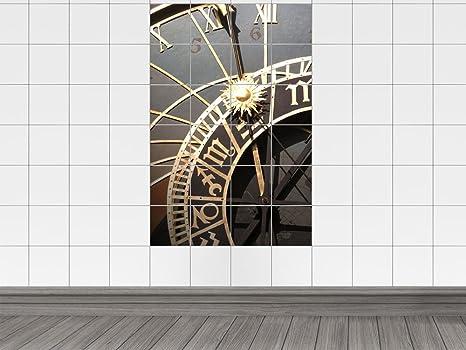 Piastrelle adesivo piastrelle quadro orologio sole futuro numeri