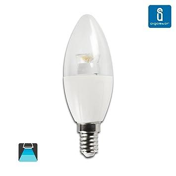 Aigostar - 182700 - bombillas led c5 c37 tipo vela de 6 watios, casquillo fino (e14), 390 lumen y luz fria (6400k): Amazon.es: Bricolaje y herramientas