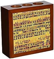 Rikki Knight Grunge Music Notes Design  Inch Tile Wooden Tile Pen Holder