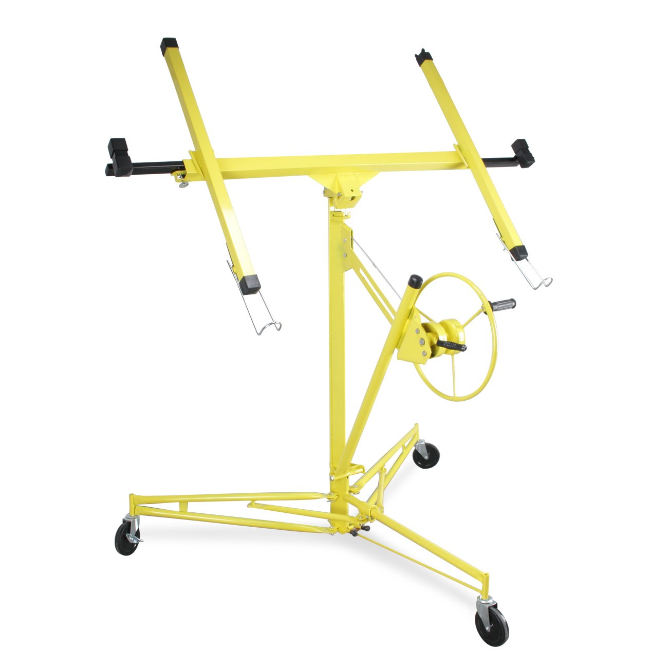 ARKSEN | Drywall Panel Lift | Dry Wall Panel Hoist | Lockable Lifter | Ceiling Max 11 FT | Angled Ceiling Max 15 FT | 150 LB Max | Caster Wheels | 65 Degree Tilt | Yellow