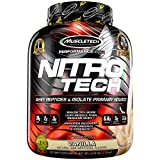 MuscleTech NitroTech Protein Powder Plus Muscle Builder, 100% Whey Protein with Whey Isolate, Vanilla, 40 Servings (4lbs) Review