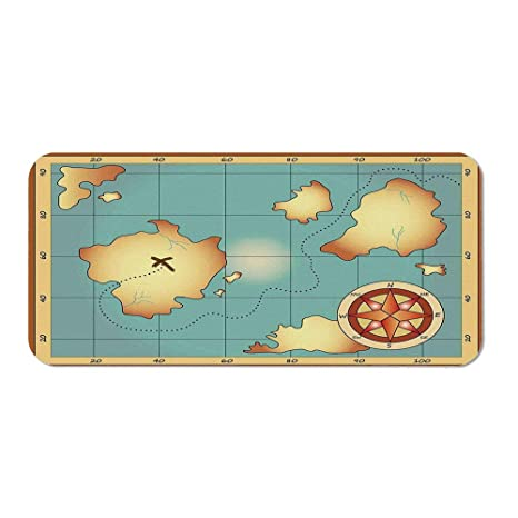 Amazon com : Island Map Personalized Mouse Pad, Ancient