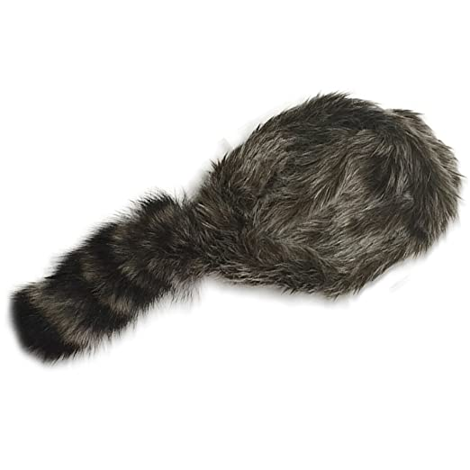 cc2e98a591f Image Unavailable. Image not available for. Color  Nekid Cow USA Made Davy  Crockett Daniel Boone Real Tail Cap Hat ...